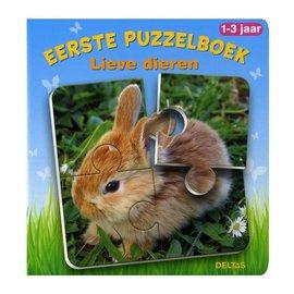Boeken DT580620 - Eerste puzzelboek - Lieve dieren (1-3 jr)