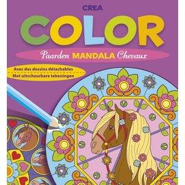 Boeken DT690929 - Crea color paarden mandala (met uitscheurbare tekeningen)