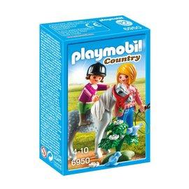Playmobil pl6950 - Ponyrijden met mama