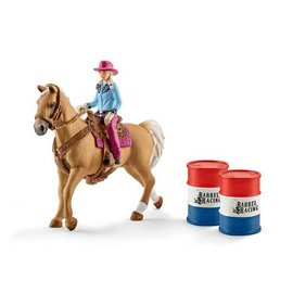 Schleich Barrel racing met cowgirl - 41417
