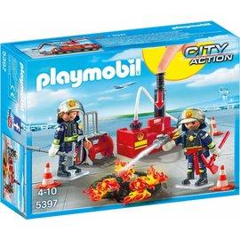 Playmobil pl5397 - Brandweermannen met blusmateriaal