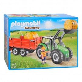Playmobil pl6130 - Tractor met aanhanger