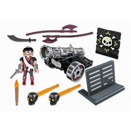 Playmobil pl6165 - Piraat met zwart kanon