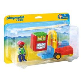 Playmobil pl6959 - Vorklift met lading