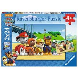 Ravensburger PU90648 - Dappere honden PAW 2 x 24 stukjes