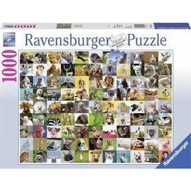 Ravensburger PU196425 - 99 Vrolijke dieren 1000 stukjes