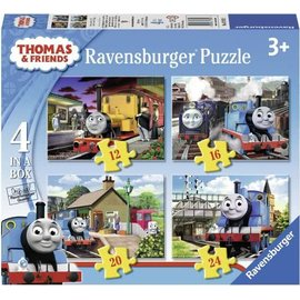 Ravensburger PU69378 - Thomas & Friends 4 in a box (12, 16, 20, 24 stuks)
