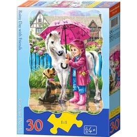 Castorland puzzels PUB034261-1 - Regenachtige dag met vrienden 30 stukjes