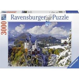 Ravensburger PU170623 - Slot Neuschwanstein in de winter 3000 stukjes