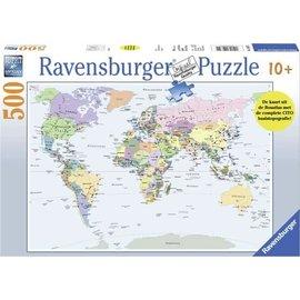 Ravensburger PU146321 - Wereldkaart 500 stukjes