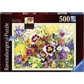 Ravensburger PU146581 - Cottage garden in Spring 500 stukjes