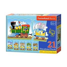 Castorland puzzels PUE135 - Train 21 stukjes