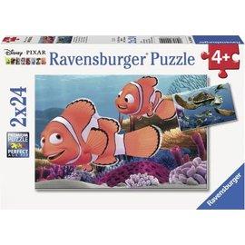 Ravensburger PU090440 - Nemo's avonturen (2 x 24 stukjes)