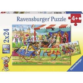 Ravensburger PU090839 - Bij de ridders (2 x 24 stukjes)
