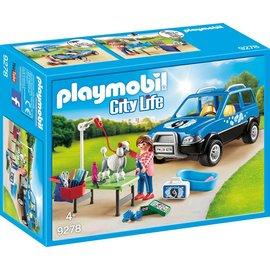 Playmobil pl9278 - Mobiele hondensalon