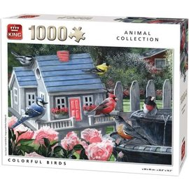 King International PU05390 - Colorful Birds 1000 stukjes