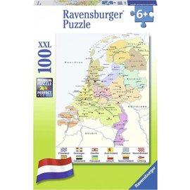 Ravensburger PU109982 - Nederland kaart cito 100 stukjes