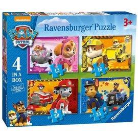 Ravensburger PU069361 - Paw Patrol 4 in a box (12, 16, 20, 24 stukjes)