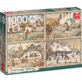 Jumbo PU - Anton Pieck 4 seizoenen 1000 stukjes