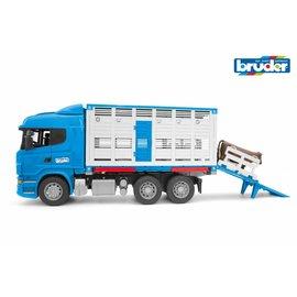 Bruder BF3549 - Scania R-Vrachtwagen voor veetransport met 1 koe