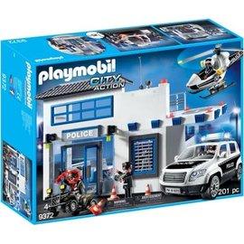 Playmobil pl9372 - Politiepost met voertuigen
