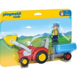 Playmobil pl6964 - Boer met tractor en aanhangwagen