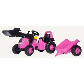 Rolly Toys Rollykid Roze met voorlader - RT24537