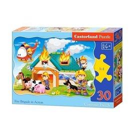 Castorland puzzels PUB03525 - Brandweer in aktie 30 stukjes