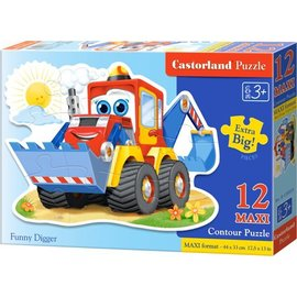 Castorland puzzels PUB120024 - Grappige graafmachine 12 stukjes