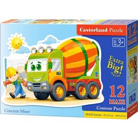 Castorland puzzels PUB120086 - Betonmixer 12 stukjes
