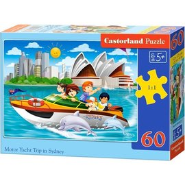 Castorland puzzels PUC02375 - Motor Jacht trip in Sydney 60 stukjes