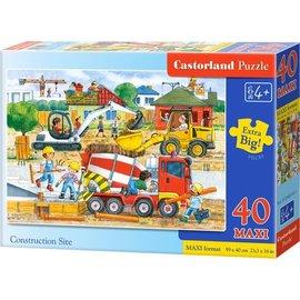 Castorland puzzels PUB040018 - Op de bouwplaats 40 stukjes
