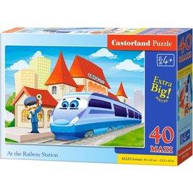 Castorland puzzels PUB040216- Het treinstation 40 stukjes