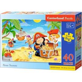 Castorland puzzels PUB040148 - Piraten schatten 40 stukjes