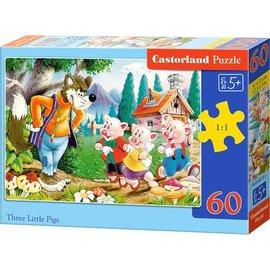 Castorland puzzels PUB06519 - De drie biggetjes 60 stukjes