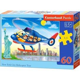 Castorland puzzels PUB066063 - New York city helicopter tour 60 stukjes