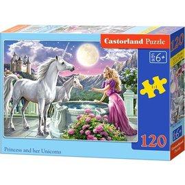 Castorland puzzels PUB13098 - Princes met haar unicorns 120 stukjes