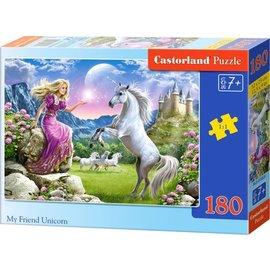 Castorland puzzels PUB018024 - Mijn vriend de unicorn 180 stukjes