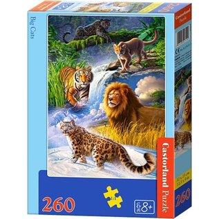 Castorland puzzels PUB27415- Grote katten 260 stukjes