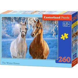 Castorland puzzels PUB27378 - Paarden in de sneeuw 260 stukjes