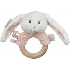 Little Dutch LDU4613 - Little Dutch - Rammelaar hout ring, roze