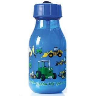 Tractor Ted  Drinkfles donkerblauw machines - 159