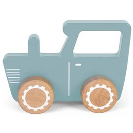 Little Dutch LDU4377 -  Little Dutch Houten Tractor blauw