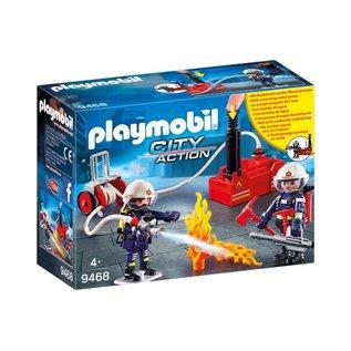 Playmobil pl9468 - Brandweerteam met waterpomp