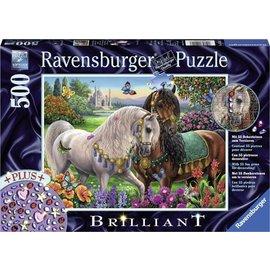 Ravensburger PU149117 - Adorable stallions Briljant puzzel, 500 st.