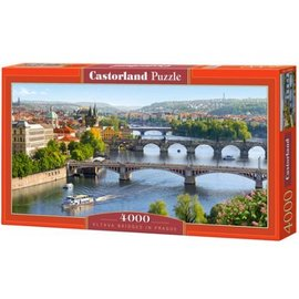 Castorland puzzels PU4000962 - Vltava Bridges in Prague, 4000 st