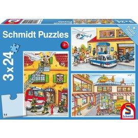 Schmidt Brandweer en Politie 3 x 24 stukjes