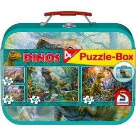Schmidt Dinos, Puzzle-Box, 2x60, 2x100 stukjes