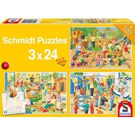Schmidt Een dag op het kinderdagverblijf, 3 x 24 stukjes