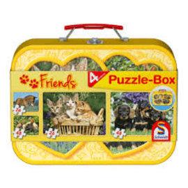 Schmidt Huisdieren, Puzzle-Box, 2x26, 2x48 stukjes